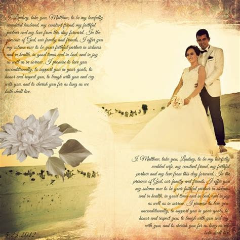 Wedding Vow Bride and Groom Wall Decor Photo by