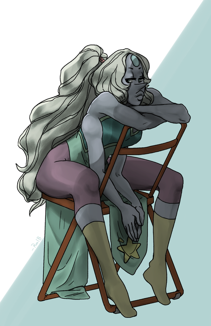 my first opal drawing! its been like million years since giant woman came out tho... i am so slow