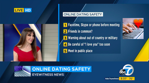 Julie Spira Talks to KABC TV With 10 Dating Safety Tips