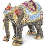 Bejeweled Kathmandu Elephant Trinket Box with Charm Pendant - BJ2040