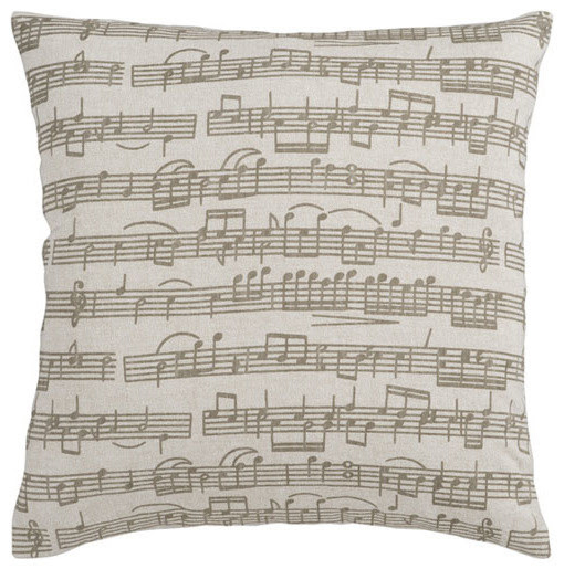 Music Score 18 x 18 Pillow - modern - bed pillows and pillowcases
