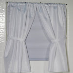 Carnation Home Fashions Lauren Diamond-Piqued, 100% Polyester Window Curtain in White