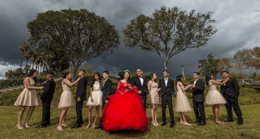 What's a Quinceanera court of honor?