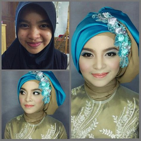 tutorial hijab pesta simple segi empat tapi elegan tampil