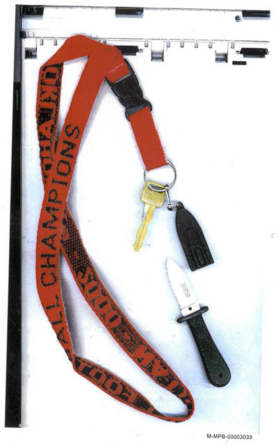 Sooners Lanyard With Cold Steel Knife