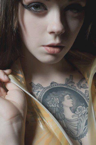 tattoo models girl tattoos chest piece tatt