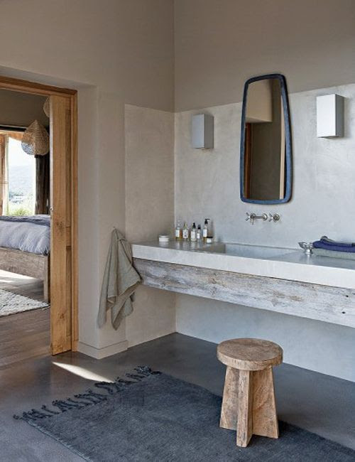 Baño de La casa de la colina en Córcega