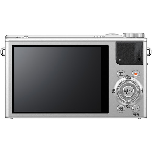 Fujifilm XQ1 Rear View (Silver)