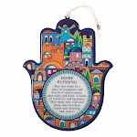 Blessing for Home Good Luck Wall Decor Hamsa Hand in English