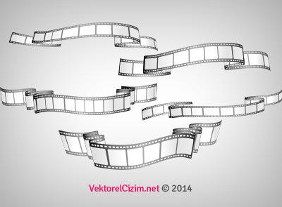 Vektörel çizim Film şeritleri Filmstrip