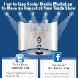 #Infographic on How to Use Social Media Marketing to Make an Impact at Your Trade Show | Trade Show Display Tips | Pinterest | Media marketing