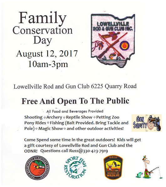 Come on Out and Join the Fun! Family Day Reminder! FREE and Open To The Public! Saurday August 12th, 2017!! - Lowellville Rod and Gun Club