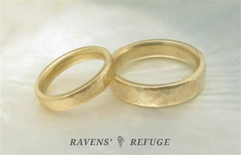 hammered gold rings ? matching wedding bands   Ravens' Refuge