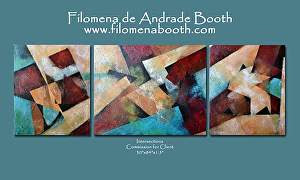 "Commission for client by Filomena Booth Acrylic ~ 30"" x 84"