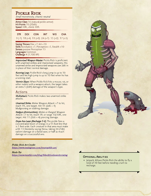 Dungeons & Dragons! — Pickle Riiiiiiiick!  Update: Fixed some junk....
