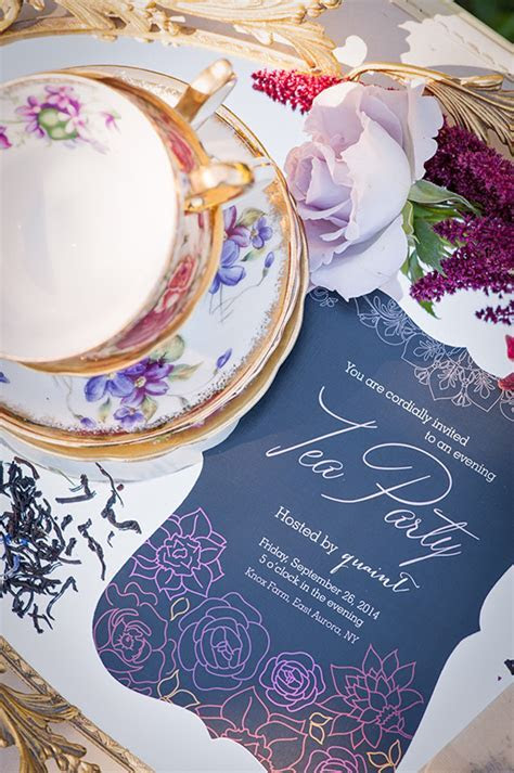 Dark and Romantic Bridal Shower Tea Party