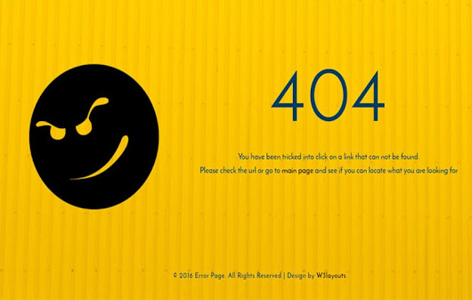 Error Page a Flat Responsive Widget Template by w3layouts