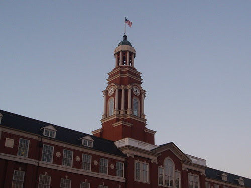 courthouse at dawn