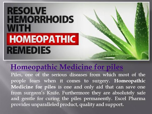 Homeopathic Medicine for Piles