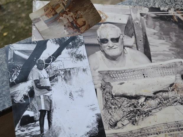 José Pedro Rodrigues era o pescador mais antigo e lançou o anzol ao mar nos últimos anos, na Procissão Marítima, em Vitória (Foto: Viviane Machado/ G1 ES)
