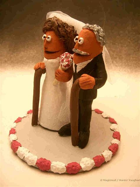 senior citizens wedding cake topper
