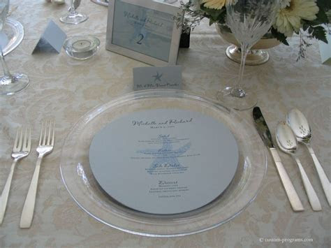 Reception Stationery, round menus, circle menu, circular