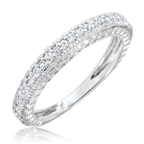 1/5 Carat T.W. Diamond Women's Wedding Ring 10K White Gold