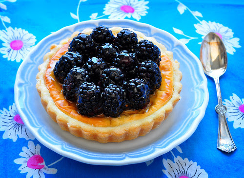 Goat Cheese and Blackberry Tart w Spoon