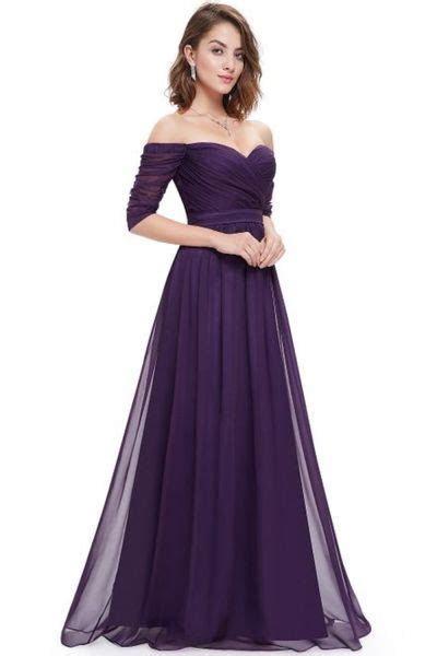 Off Shoulder Evening Gown With Sweetheart Neckline