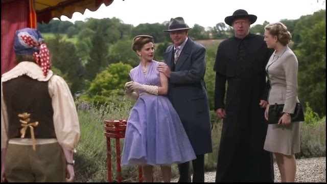 father.brown.mayors.wife.lavender.polka.dot.dress2