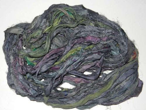 100g-Sari-Silk-Ribbon-craft-ribbon-jewelry-making-Purple-Pink