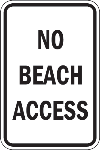 No Beach Access