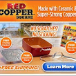 Red Copper Square Pan - All Purpose Non Stick Pan