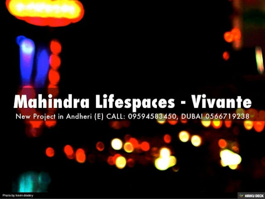 Mahindra Lifespaces - Vivante