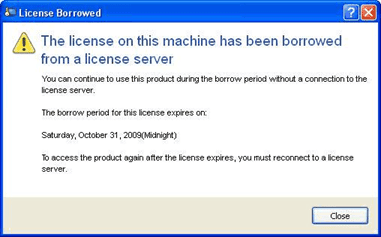 License Borrowed