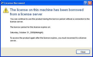 License Borrowed