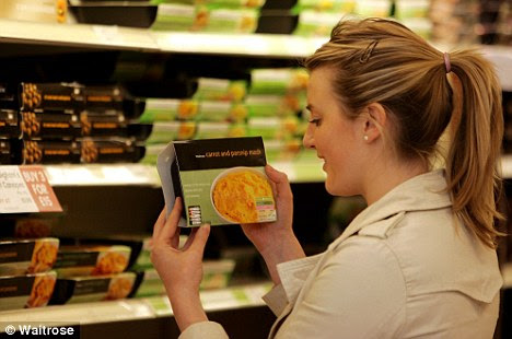 Better: Cases of stomach cancer could be cut if food labelling were improved, the World Cancer Research Fund claims. (Picture posed by model)