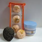 Dead Sea Spa Care DeadSea-BBTMM03 3 Pack Mango Mandarin Bubble Bath Truffles 8 oz Almond Shea Body Butter & Pumice Stone