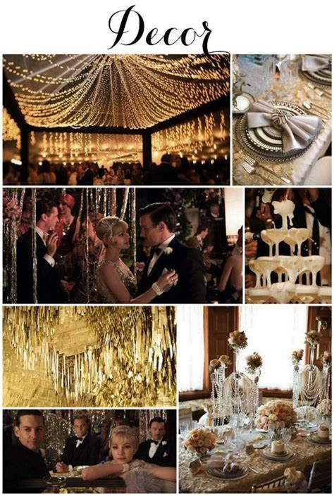 Great Gatsby 1920s Art Deco Wedding Inspiration on