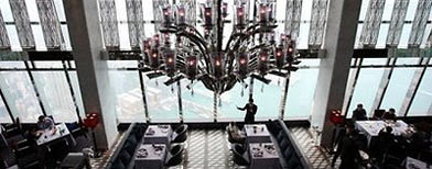 Restaurant inside the world's highest hotel (AFP/Ed Jones)