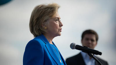 Hillary Clinton calls shooting of unarmed black man in Oklahoma 'intolerable'