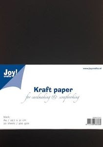 8089-0241 Kraftkarton zwart Joy! Crafts A4