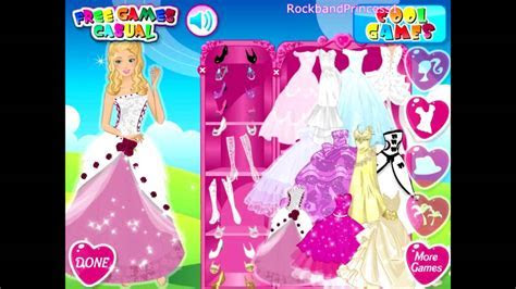 Barbie Wedding Bride   Dress Up Game   YouTube