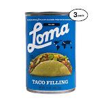 Loma Linda Blue - Plant-Based - Taco Filling (15 oz.) (Pack of 3) - Non-GMO, Gluten Free, Kosher