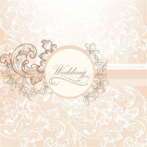 Wedding Vector Design In Vintage Style Stock Vector