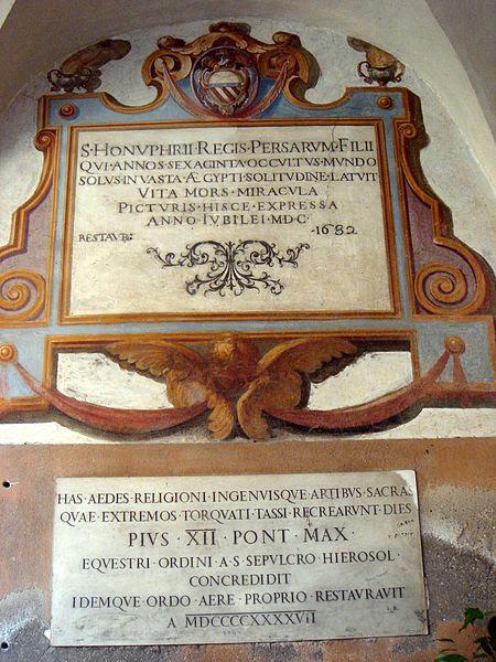 File:Trastevere - sant'Onofrio chiostro interno - affreschi del Cavalier d'Arpino 00662.JPG