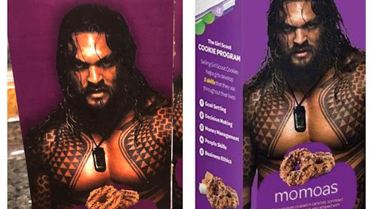 Girl Scout Cookie Sales Skyrocket After Fifth-Grader Puts Shirtless Jason Momoa on Box