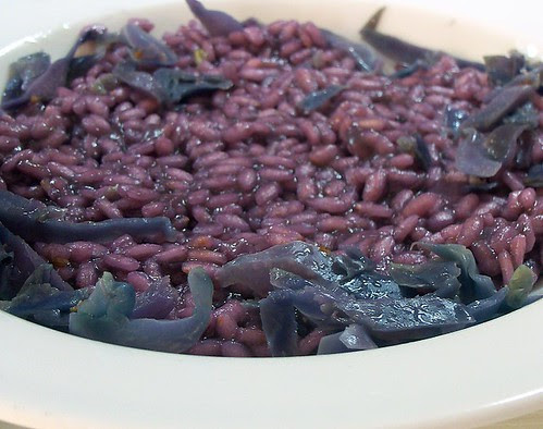 risotto viola al cavolo rosso