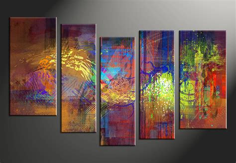 vvvart reviews piece abstract decor colorful oil