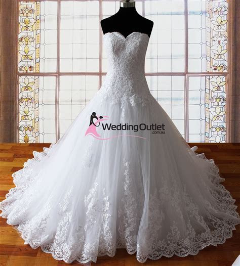Harper strapless lace princess wedding dresses UK